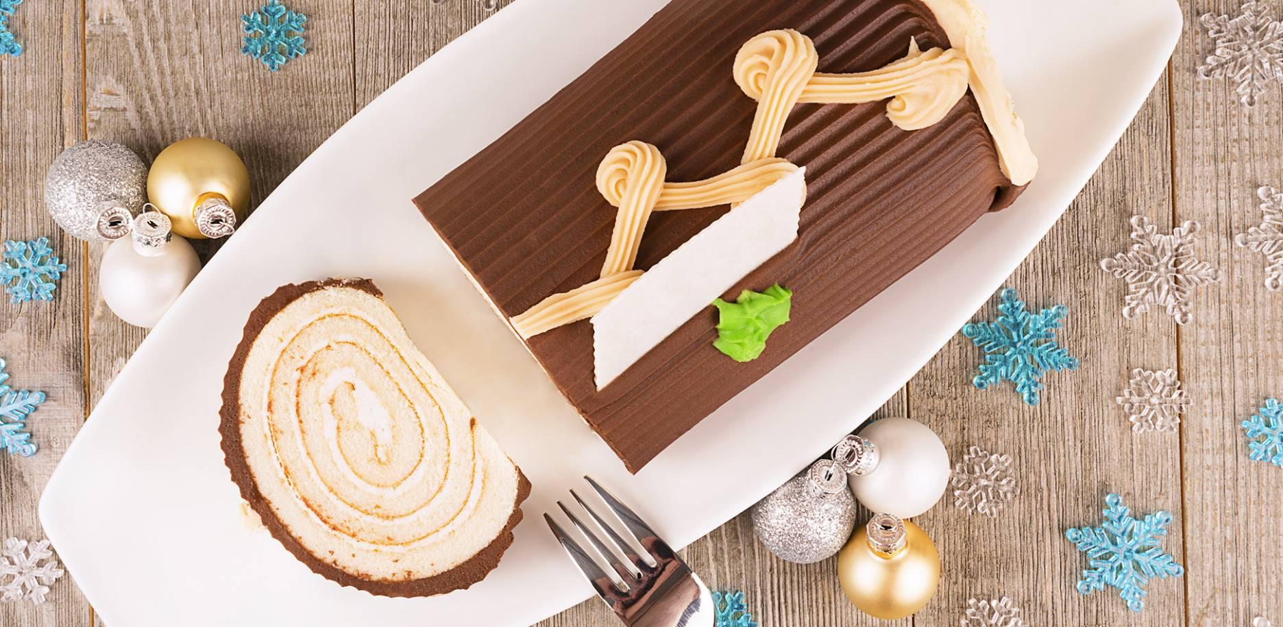 Recette : Bûche au chocolat et à la vanille Bourbon